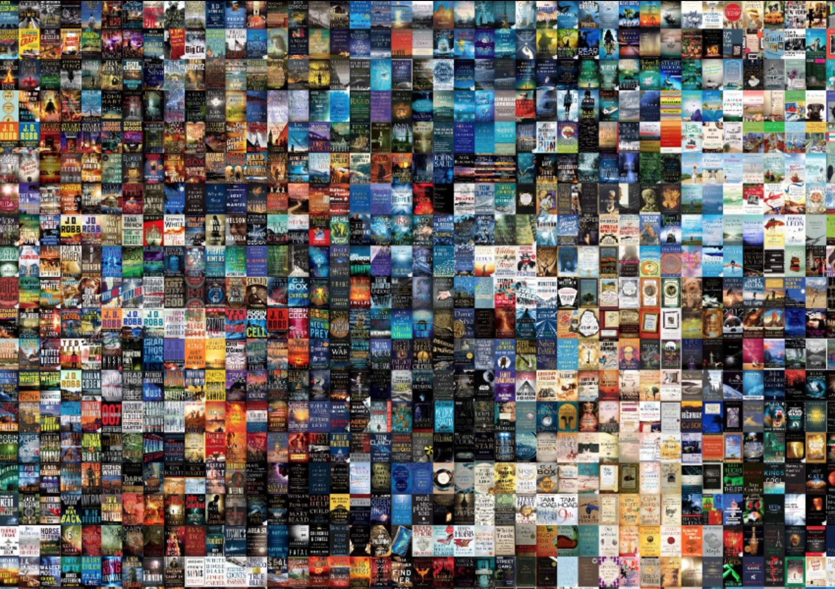 A grid of book covers